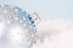 Soft blue christmas Stock Images