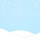 Soft blue Christmas or New Year illustration Stock Images