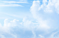 Soft Blue Cloudscape. Soft blue pastel looking clouds Royalty Free Stock Image