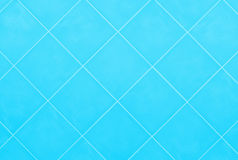 Soft blue or cyan Tile glossy mosaic Earthenware material backgr Stock Image