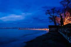 Soft Blue Evening After Glow Royalty Free Stock Photography