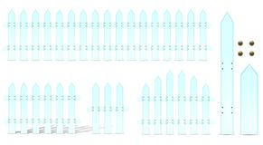 Soft blue fence Royalty Free Stock Photography