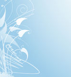 Soft blue floral background Stock Photography