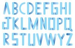 Soft Blue Rounded Corner Strips Vector Font Design Stock Image