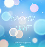 Soft blue shining background. Nice abstract background with bokeh and particles vector illustration
