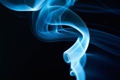 Soft blue smoke curves Royalty Free Stock Photos