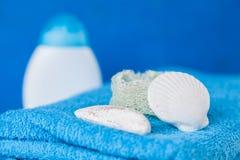 Soft blue towels Stock Image