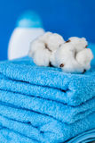 Soft blue towels Royalty Free Stock Image