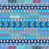 Soft blue tribal motif Stock Images