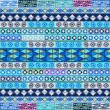 Soft blue tribal motif Stock Images