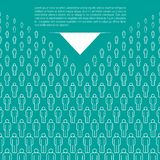 Soft Blue Vector People Crowd Background Made of Simple Line Icons. Sample Text stock illustration