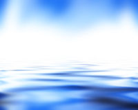 Soft blue waves Stock Photos