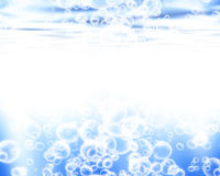 Soft blue waves Royalty Free Stock Images