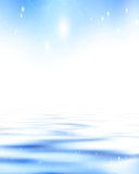 Soft blue waves Royalty Free Stock Photos