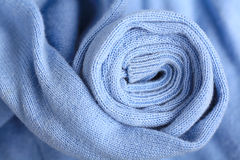 Soft blue wool sweater Stock Images