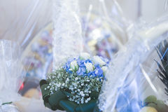 Soft blur the background abstract wedding flowers Stock Image