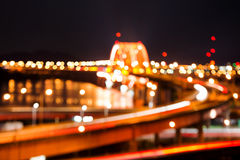 Soft blurred bokeh of banghwa bridge Royalty Free Stock Photo