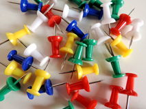 Soft-board pins Stock Photography