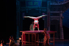 Soft body-Acrobatic showBaixi Dream Night Stock Images