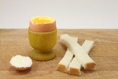 Soft-boiled egg. The breakfast from the day Royalty Free Stock Images