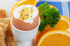 Soft Boiled Egg Royalty Free Stock Photos