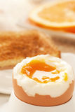 Soft boiled egg Royalty Free Stock Images