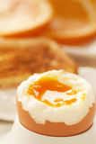 Soft boiled egg Stock Images