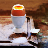 Soft-boiled egg Stock Photo