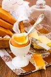 Soft boiled egg Stock Image