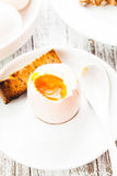The soft-boiled egg Stock Photo