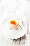 The soft-boiled egg Stock Image