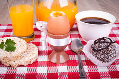 Soft boiled egg for breakfast Royalty Free Stock Photos