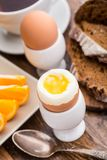 Soft boiled egg for breakfast Stock Photo