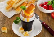 Soft boiled egg for Breakfast Royalty Free Stock Images