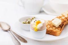 Soft boiled egg for breakfast Stock Photos