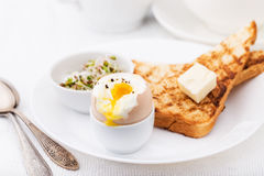 Soft boiled egg for breakfast Royalty Free Stock Photo