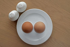 Soft boiled egg in eggcup Royalty Free Stock Image