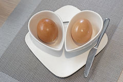 Soft boiled egg in eggcup Royalty Free Stock Photography