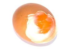 Soft-boiled egg. Japanese call Onsen Royalty Free Stock Photo