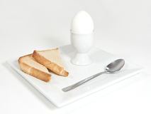Soft boiled Egg and toast Stock Photo