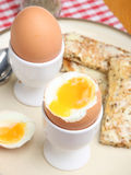 Soft Boiled Egg with Toast Royalty Free Stock Photo