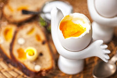 Soft-boiled egg, Royalty Free Stock Photos