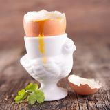 Soft boiled egg Royalty Free Stock Image