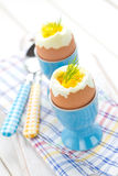 Soft boiled eggs Royalty Free Stock Photography