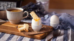 Soft Boiled Eggs for Breakfast with toast Royalty Free Stock Photo