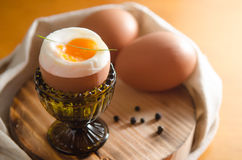 Soft Boiled eggs Royalty Free Stock Photos