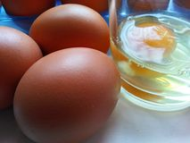 Soft-boiled eggs Stock Images