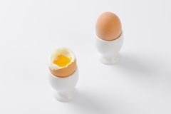 Soft boiled eggs Royalty Free Stock Photo