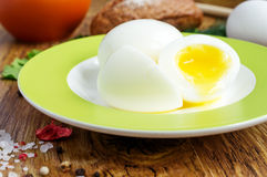 Soft-boiled eggs Royalty Free Stock Photos