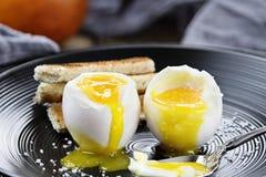 Soft Boiled Eggs Stock Photo